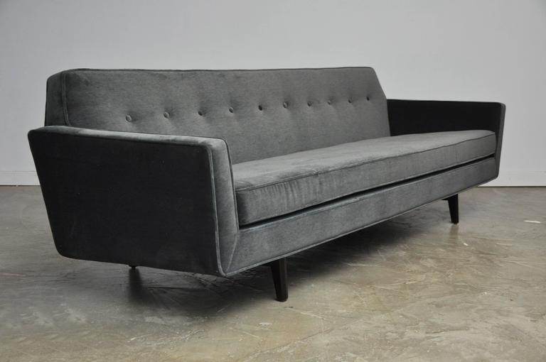 20th Century Dunbar Bracket Back Sofa with Flared Arms by Edward Wormley For Sale