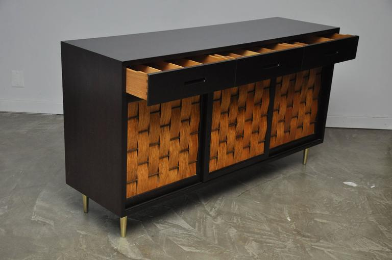 American Dunbar Rosewood Woven Front Sideboard by Edward Wormley For Sale