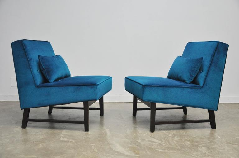 Mid-Century Modern Dunbar Angular Slipper Chairs For Sale