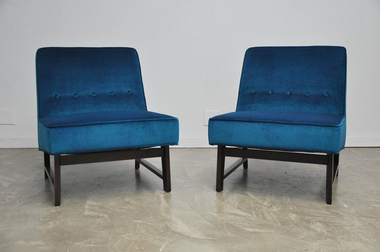 20th Century Dunbar Angular Slipper Chairs For Sale