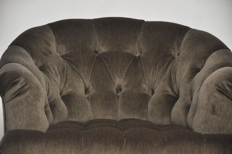 20th Century Dunbar Tufted Swivel Lounge Chairs, Edward Wormley For Sale