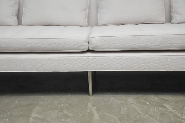 Nickel Classic Dunbar Sofa by Edward Wormley For Sale