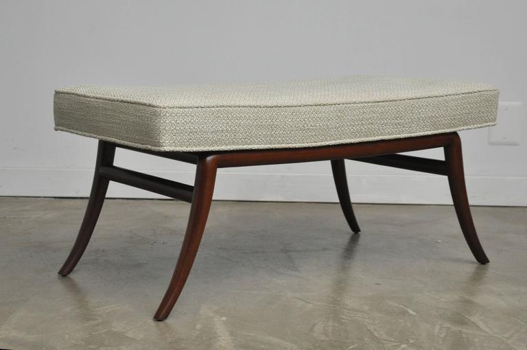Sabre Leg Bench Pair by T.H. Robsjohn-Gibbings 3