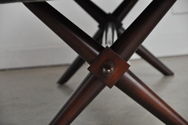 20th Century T.H. Robsjohn-Gibbings X-Base Bench For Sale