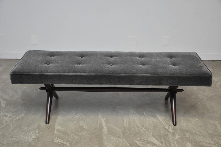 T.H. Robsjohn-Gibbings X-Base Bench For Sale 1
