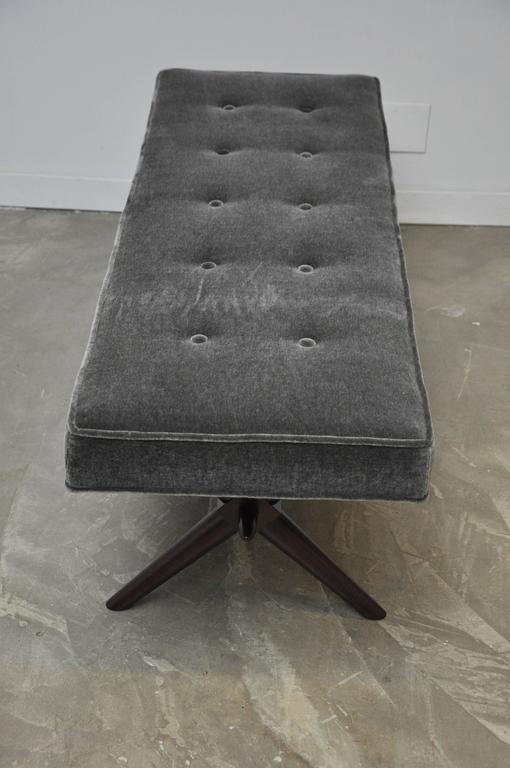 T.H. Robsjohn-Gibbings X-Base Bench For Sale 2