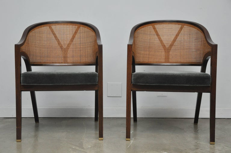 """Dunbar """"Captain Armchairs"""" by Edward Wormley In Excellent Condition For Sale In Chicago, IL"""