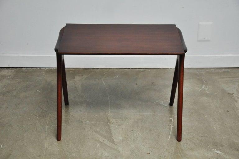 American Vladimir Kagan Walnut Side Table For Sale