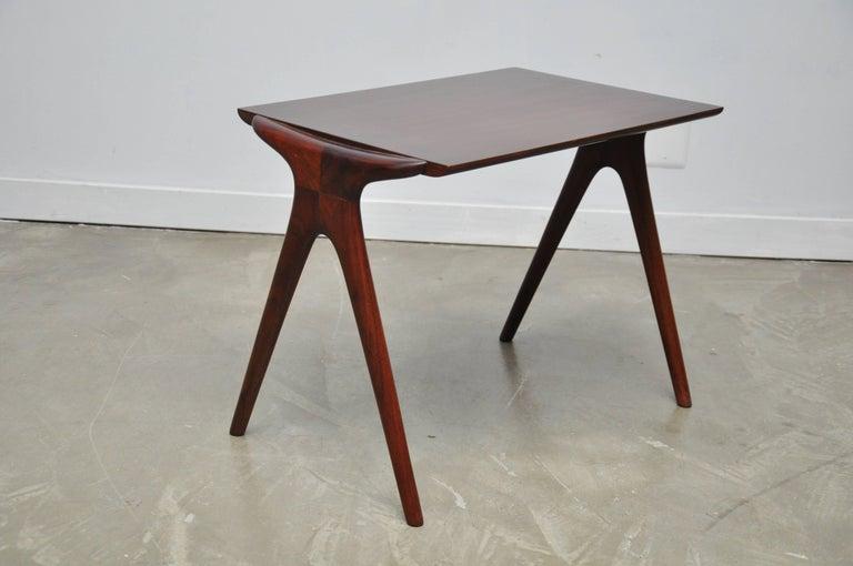 20th Century Vladimir Kagan Walnut Side Table For Sale