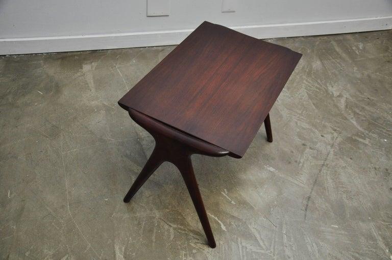 Vladimir Kagan Walnut Side Table For Sale 1