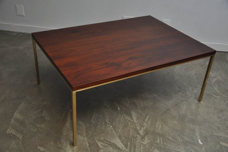 Harvey Probber Walnut and Brass Coffee Table 2