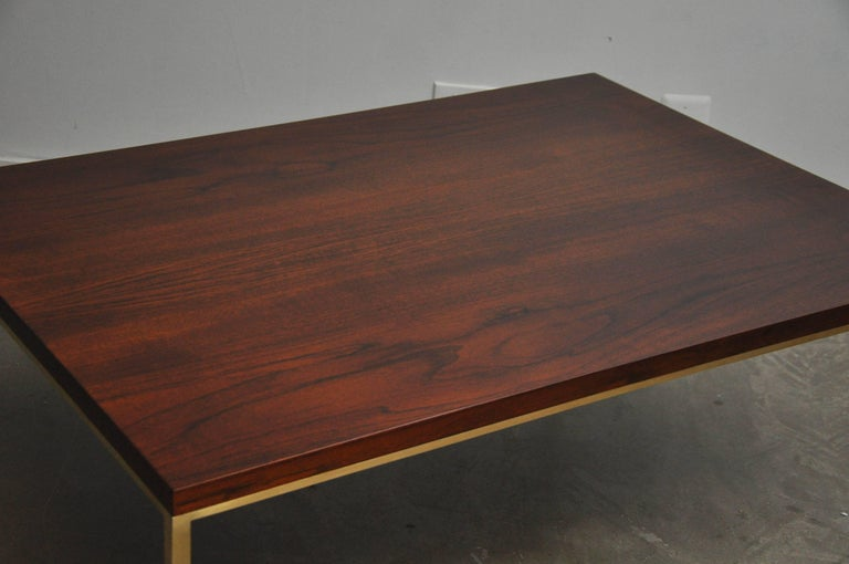 Harvey Probber Walnut and Brass Coffee Table 3