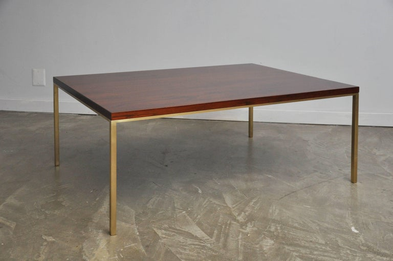 Harvey Probber Walnut and Brass Coffee Table 4