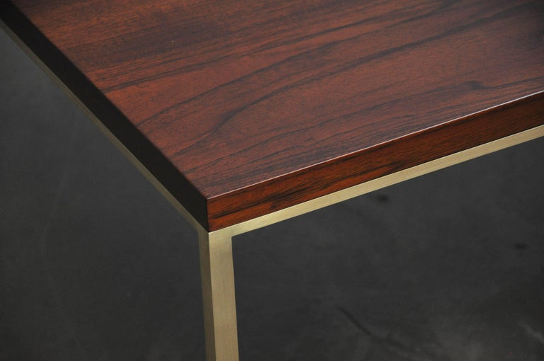 Harvey Probber Walnut and Brass Coffee Table 5