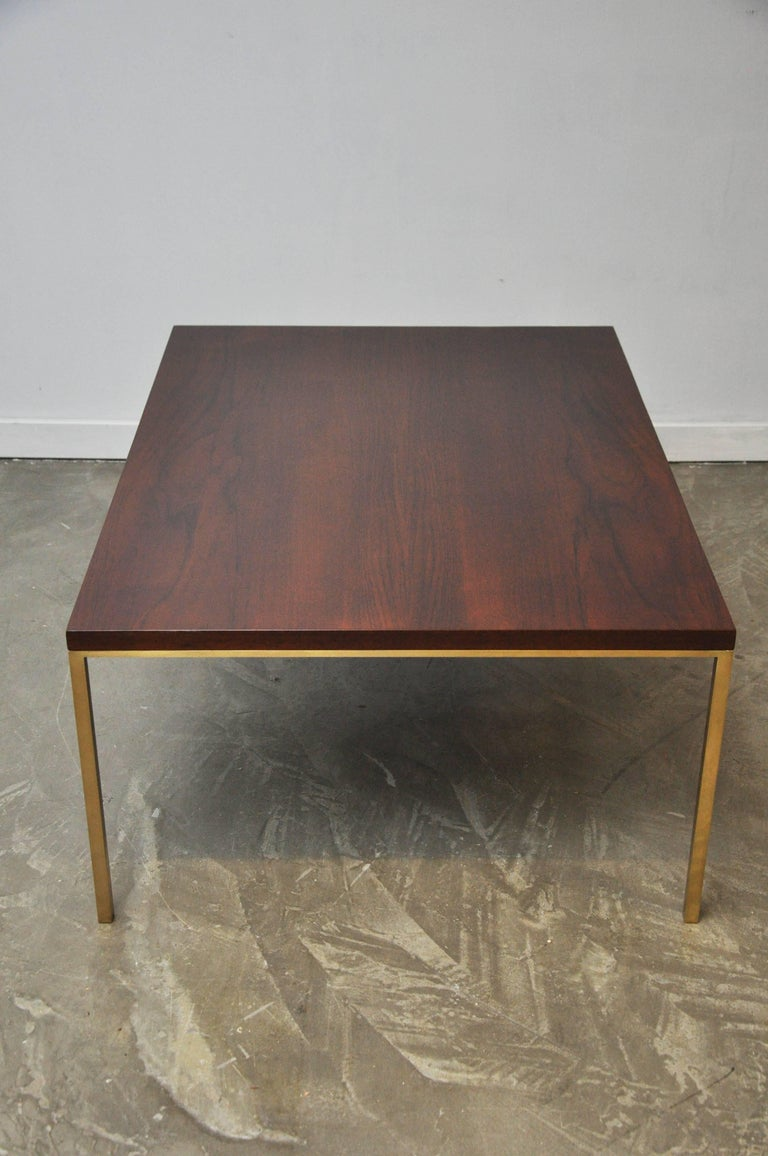 Harvey Probber Walnut and Brass Coffee Table 6