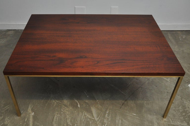 Harvey Probber Walnut and Brass Coffee Table 7