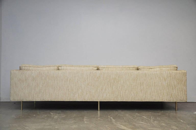 Harvey Probber Even Arm Sofa on Brass Legs 10