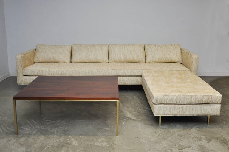 Harvey Probber Even Arm Sofa on Brass Legs 7