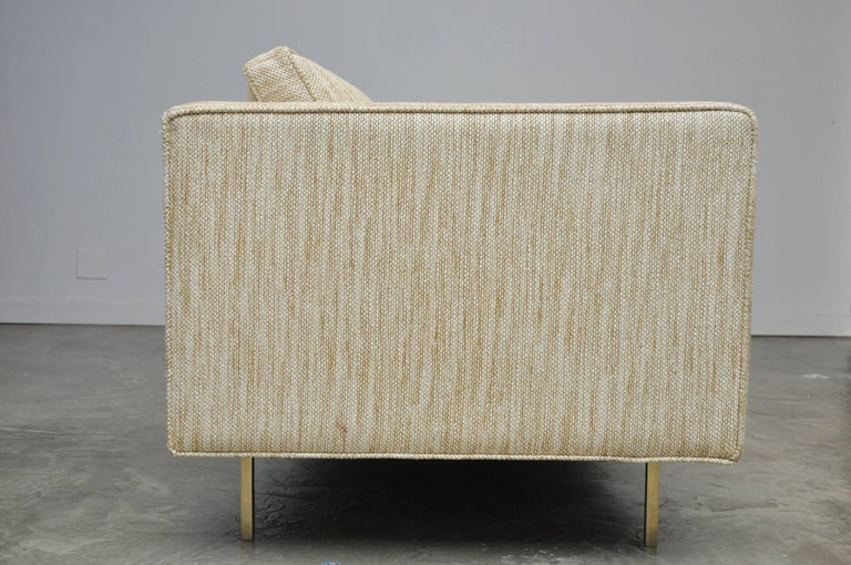 Harvey Probber Even Arm Sofa on Brass Legs 9