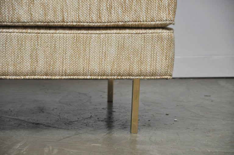 Mid-Century Modern Harvey Probber Ottoman on Brass Legs For Sale