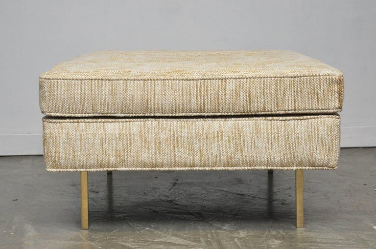 Harvey Probber Ottoman on Brass Legs For Sale 1