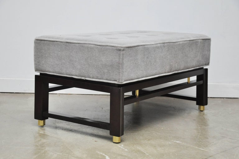 American Dunbar Benches by Edward Wormley with Brass Accents For Sale