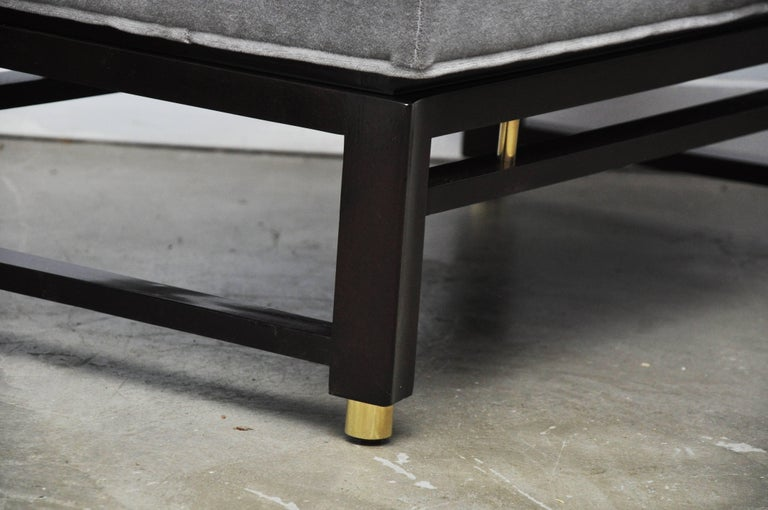 Dunbar Benches by Edward Wormley with Brass Accents In Excellent Condition For Sale In Chicago, IL