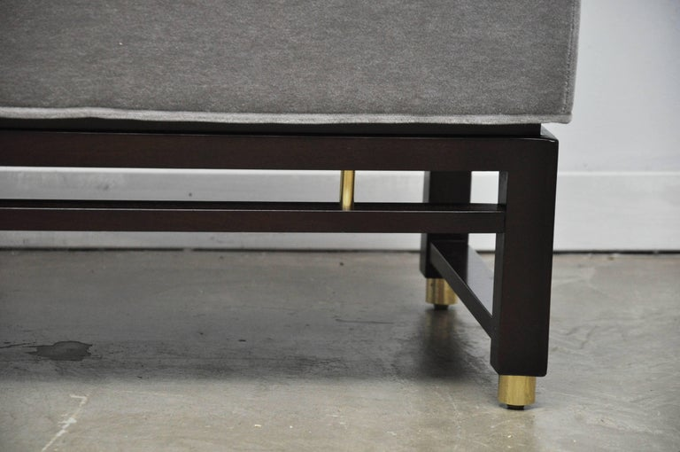 Mid-Century Modern Dunbar Benches by Edward Wormley with Brass Accents For Sale
