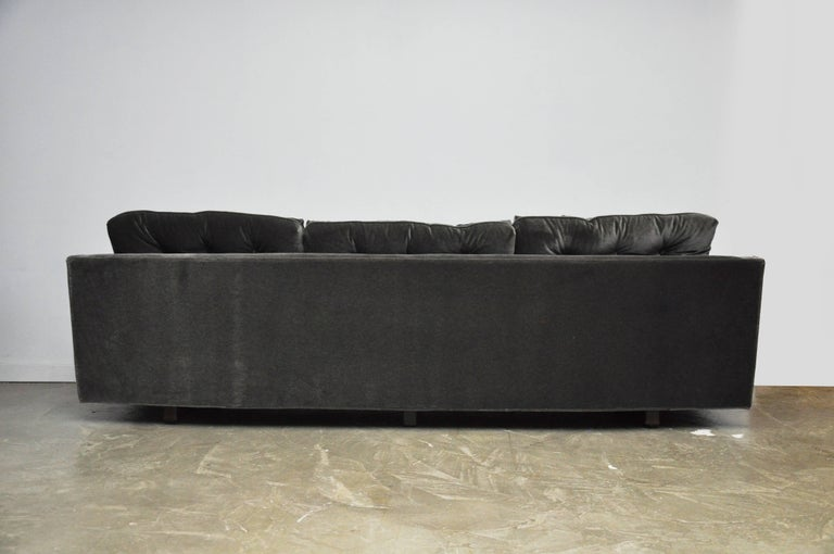 Mohair Harvey Probber Curved Sofa For Sale