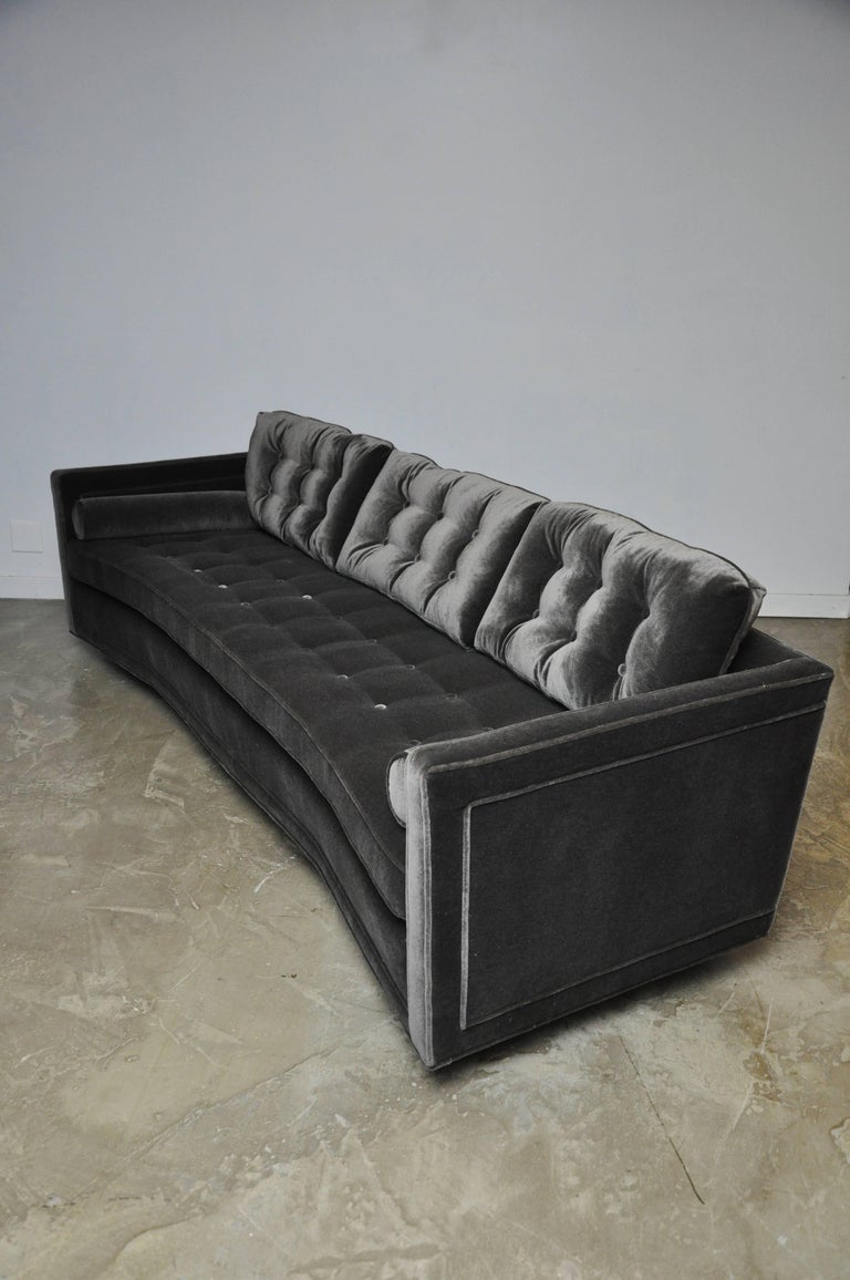 American Harvey Probber Curved Sofa For Sale