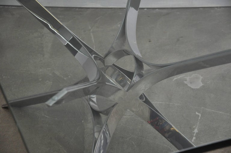 Sculptural Chrome Coffee Table by Roger Sprunger for Dunbar For Sale 1