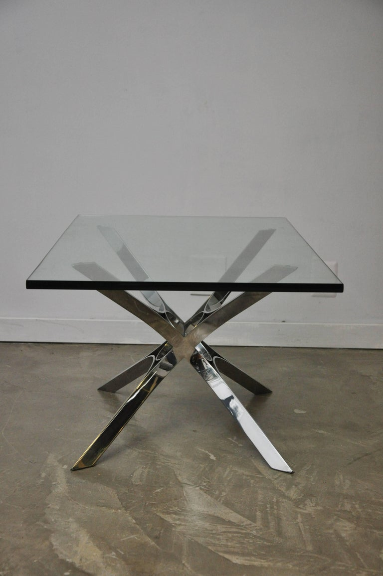 Sculptural Chrome Coffee Table by Roger Sprunger for Dunbar For Sale 3