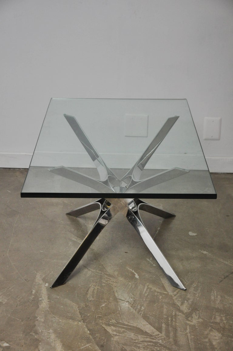 Sculptural Chrome Coffee Table by Roger Sprunger for Dunbar For Sale 2