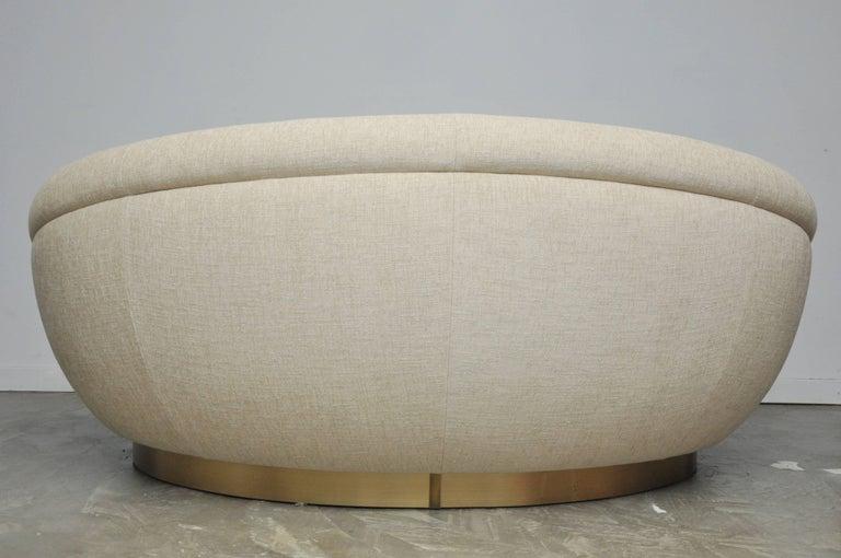 Cuddle Pod Lounge Sofa on Brushed Brass Base, circa 1970s For Sale 1