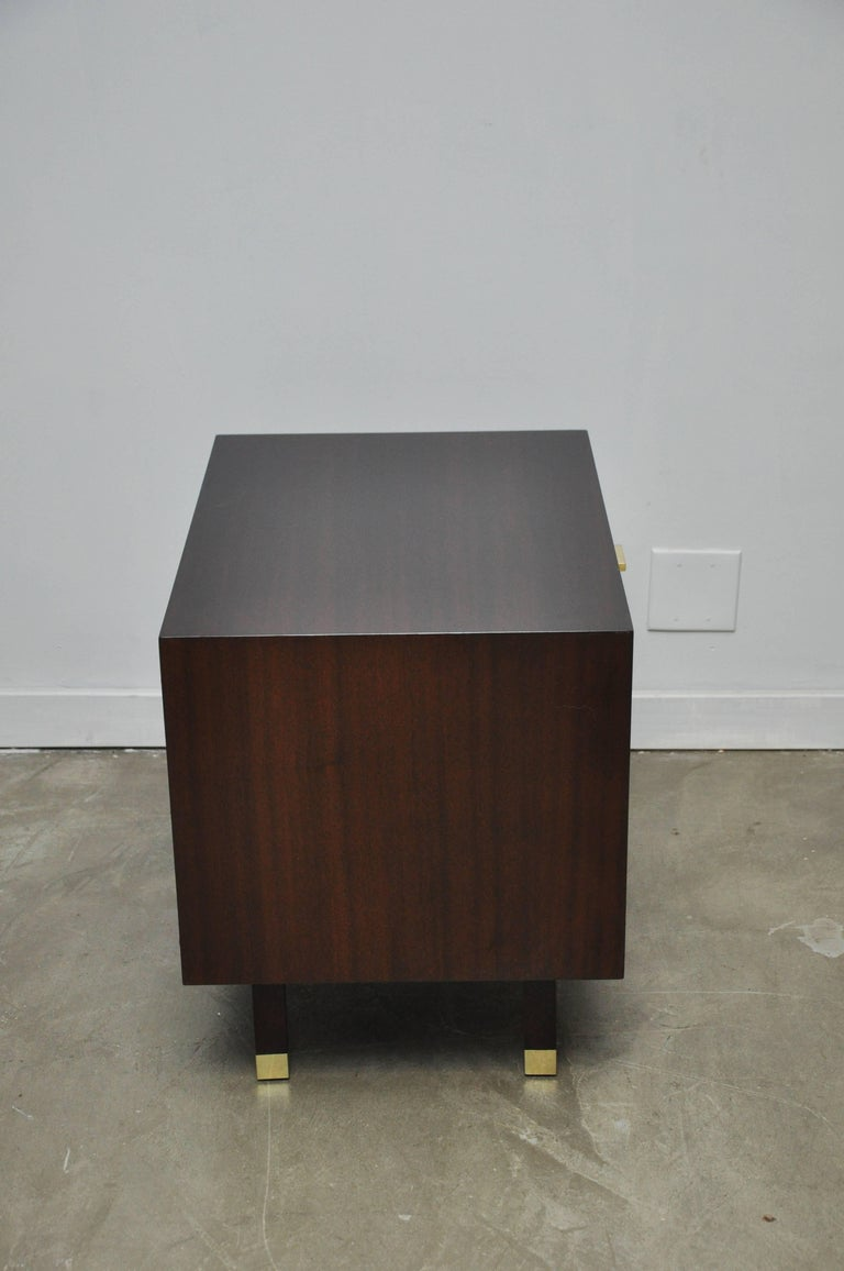 Brass Harvey Probber Nightstand End Table For Sale