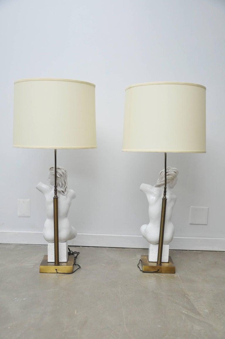 Female Nude from Lamps by Figli E Zaccagnini, Italy, circa 1950 For Sale 2