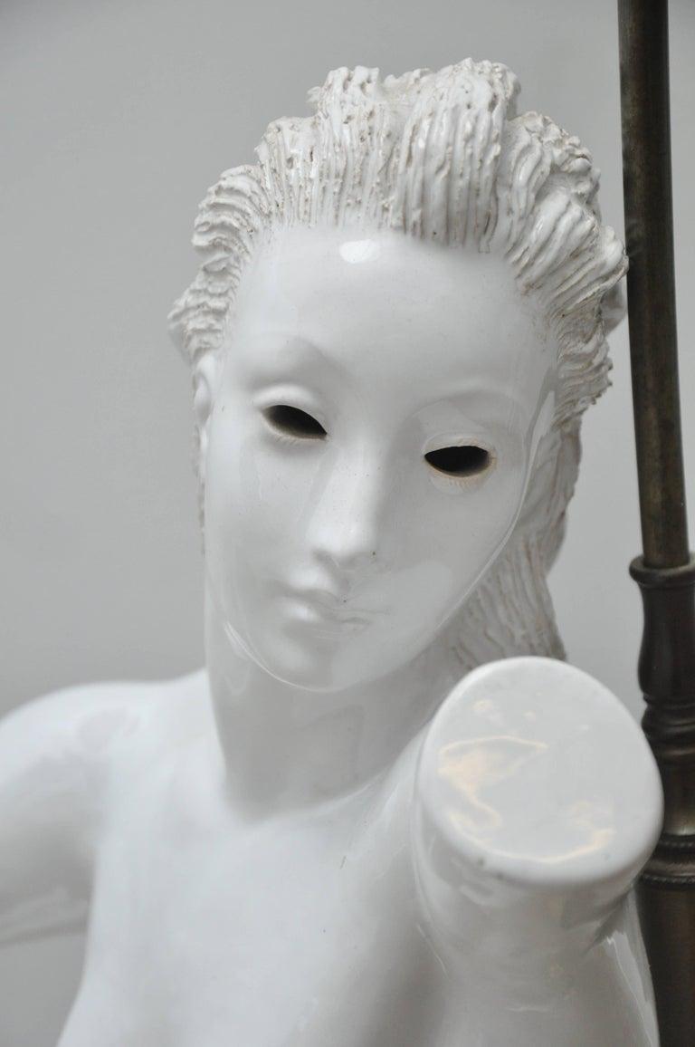 20th Century Female Nude from Lamps by Figli E Zaccagnini, Italy, circa 1950 For Sale