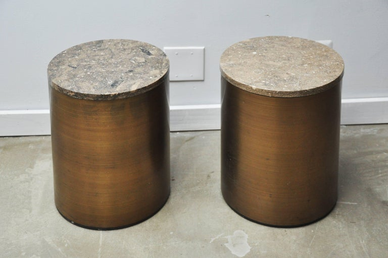 Mid-Century Modern Paul Mayen Storage Side Tables For Sale