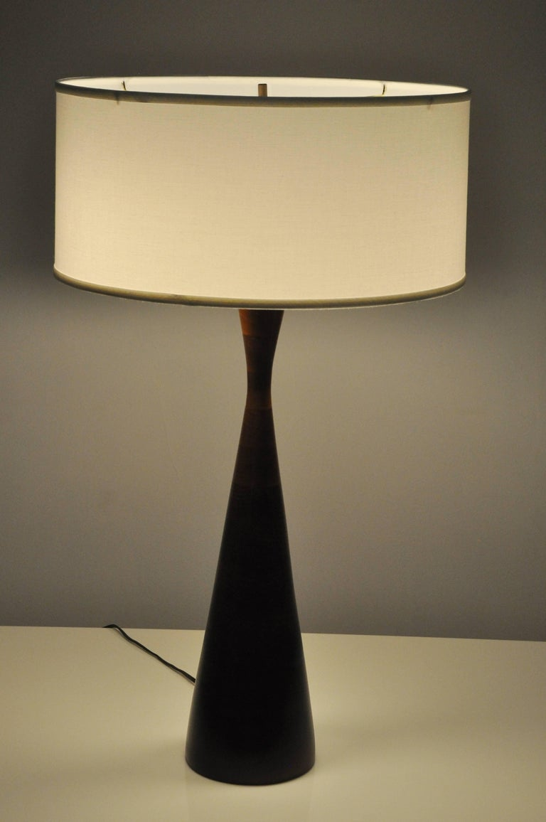 Phillip Lloyd Powell Stacked Walnut Lamps In Excellent Condition For Sale In Chicago, IL
