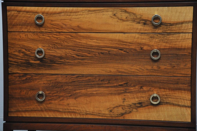American Pair of Dunbar Walnut Front Chests, Edward Wormley For Sale