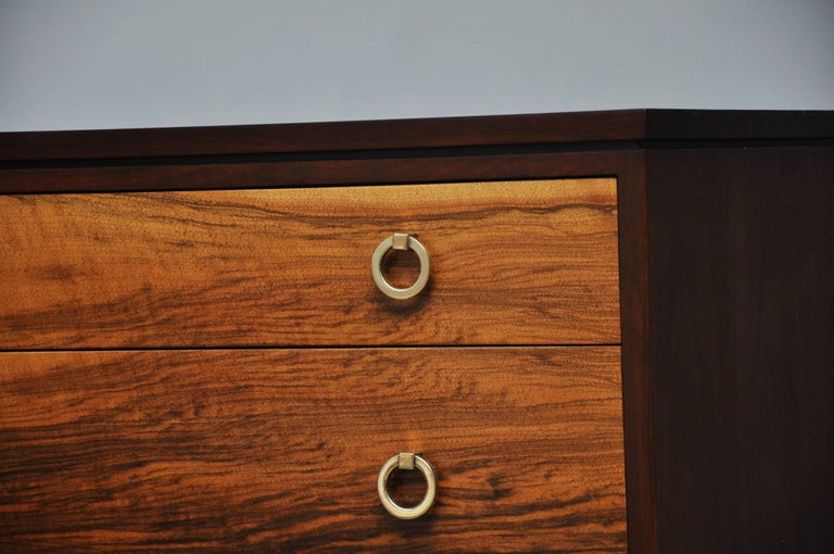 Mid-20th Century Pair of Dunbar Walnut Front Chests, Edward Wormley For Sale