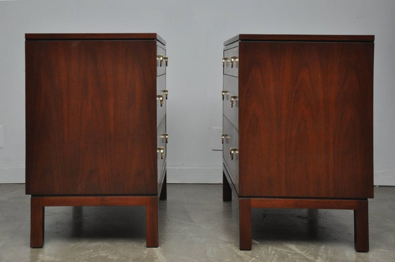 Pair of Dunbar Walnut Front Chests, Edward Wormley For Sale 2