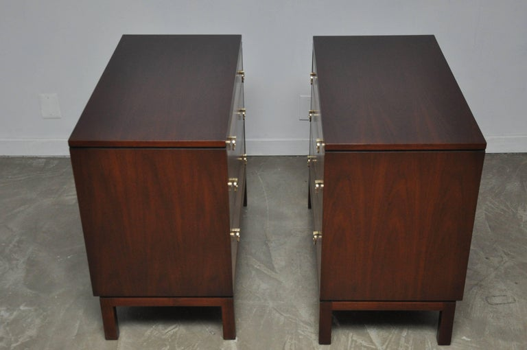 Pair of Dunbar Walnut Front Chests, Edward Wormley For Sale 3