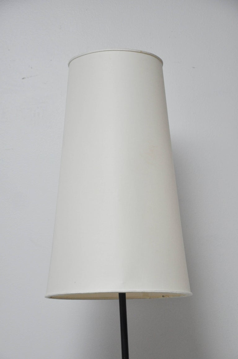 Italian Gino Sarfatti Conical Floor Lamp, Marble, Brass, and Enamel For Sale