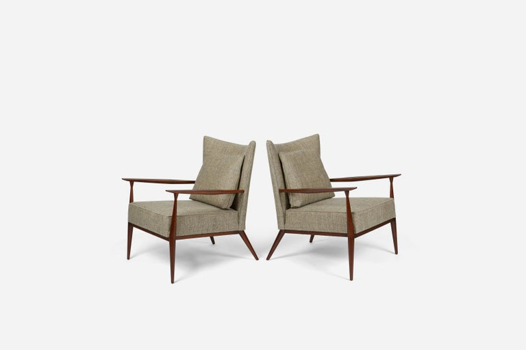 Mid-Century Modern Paul McCobb Lounge Chairs Model #1328, circa 1955 For Sale