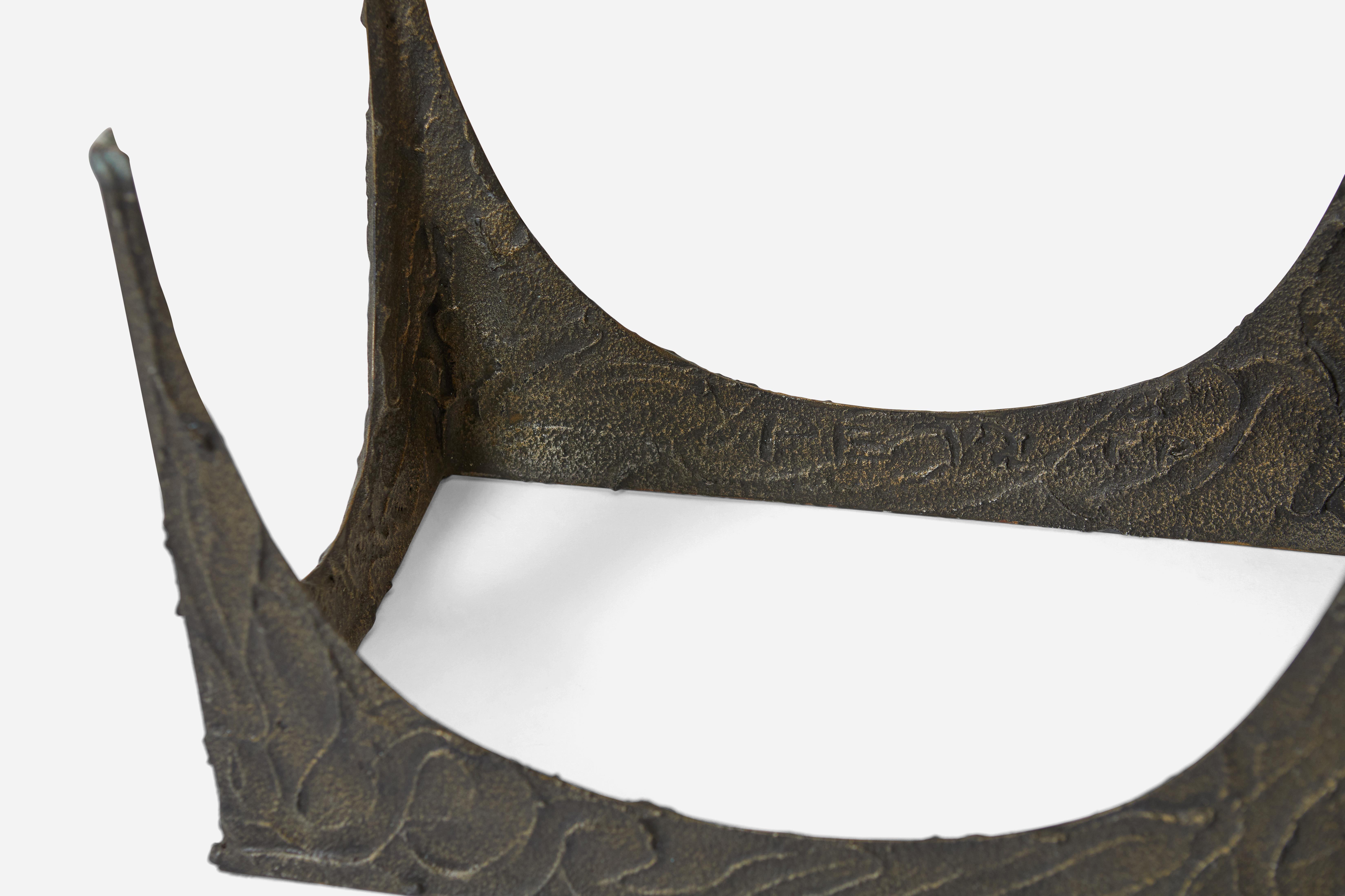 Skulpturale Bronze-Bank von Paul Evans im Angebot bei 1stdibs