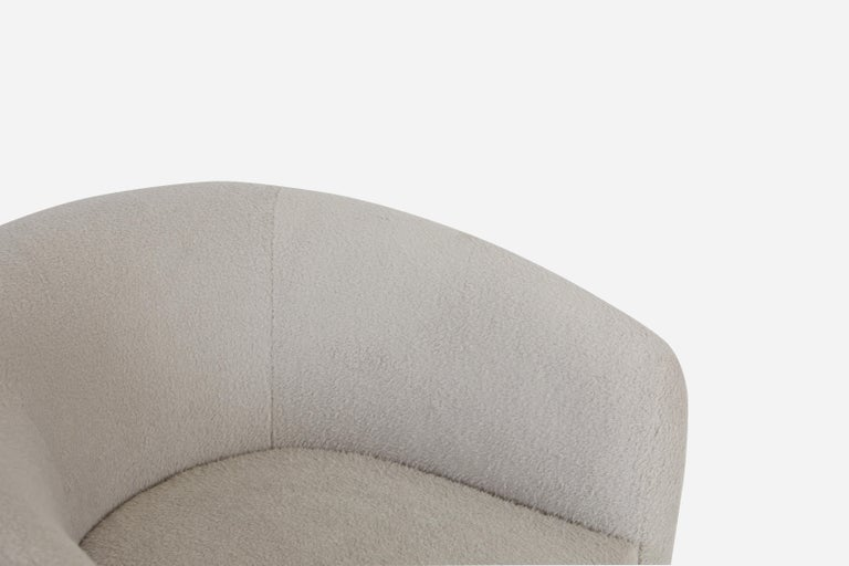 American Milo Baughman Disc Base Swivel Chairs For Sale