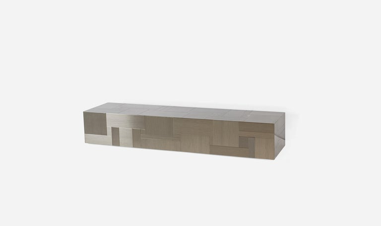 Late 20th Century Paul Evans Wall Mounted Console Table Shelf For Sale
