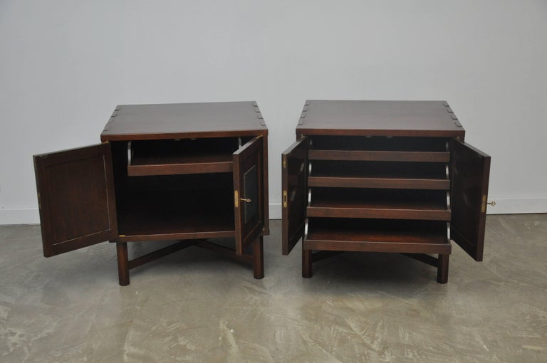 American Rare Nightstand Chests by Edward Wormley for Dunbar For Sale