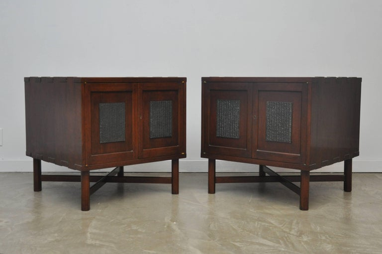20th Century Rare Nightstand Chests by Edward Wormley for Dunbar For Sale